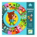 Djeco Didaktické puzzle Deň, 24 dielikov