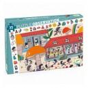 Djeco Objavovacie puzzle - Škola ježkov, 35 dielikov