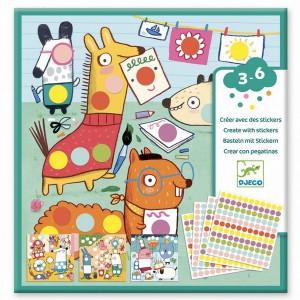 Djeco Tvorenie so samolepkami - Farebné bodky
