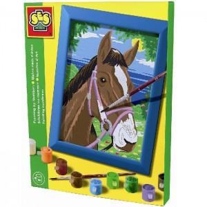 SES Maľovanie podľa čísel - Kôň s rámikom