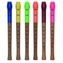 Flauta, plast + drevo