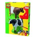 Sadrový komplet - Krava