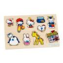 Hello Kitty - Drevené puzzle