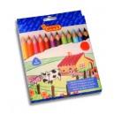 Drevené ceruzky Maxi, trojhranné, 12 ks