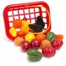 Košík Ovocie a zelenina, 18 ks, malý