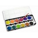 Vodové farby, 12 ks, plastová krabička