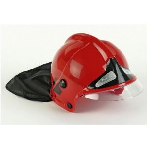 Hasičská červená helma