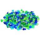 Korálky 1000 ks, modrozelené