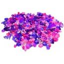 Korálky 1000 ks, fialovo-ružové