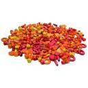 Korálky drevené 1000 ks, žlto-oranžové