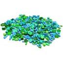 Korálky drevené 1000 ks, modro-zelené