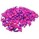 Korálky drevené 1000 ks, ružovo-fialové