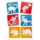 Šablóny Dinosaury, 6 ks