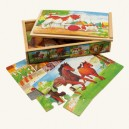 Puzzle Zvieratká, 4 ks
