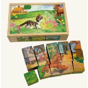 Obrázkové kocky Domáce zvieratká, 15 ks