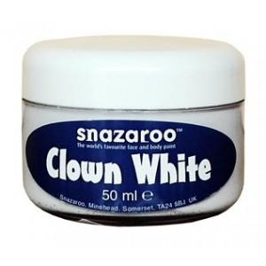 Farba na tvár Klaunská biela