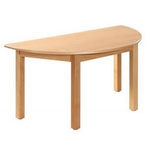Stôl polkruhový, 120 x 60 cm