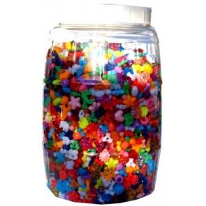 Plastové korálky, 3350 ks