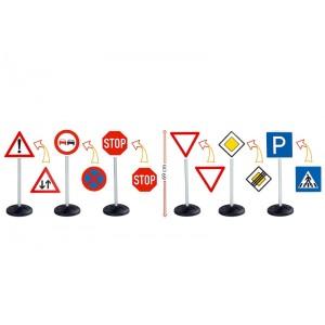 Dopravné značky, sada 6 ks