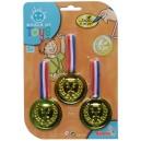 Medailová sada zlatá, 3 ks