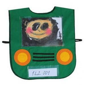 Vestička autíčko - zelené