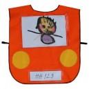 Vestička autíčko - oranžové