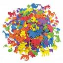 Penové zvieratká samolepice, 500 ks