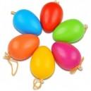 Vajíčka plastové farebné, 12 ks