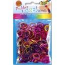 Gumičky Loops - fialová, lila 500 ks