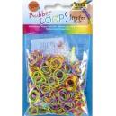 Gumičky Loops - dúhové, streifen 500 ks
