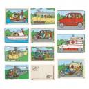 Dopravné prostriedky - dvojvrstvové puzzle