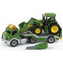 John Deere transporter so zvukmi a s traktorom