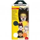 """Farby na tvár 4 farebné """"Animal"""""""
