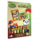 Pieskovanie obrázkov 2v1, panda a koník