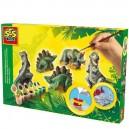 Sadrový trojkomplet Dinosauri