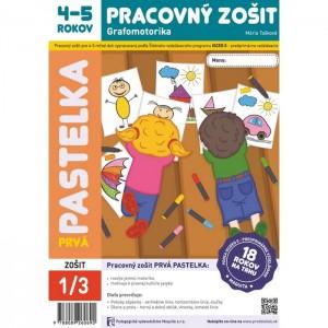 Prvá pastelka, grafomotorika pre 4-5 ročné deti