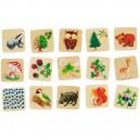 Drevené obrázkové pexeso les, 32 dielov