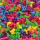 Korálky plastové Zvieratá, 250 ks