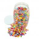 Korálky plastové v dóze, 3350 ks
