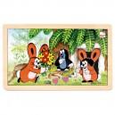 Puzzle Krtko a zajačiky