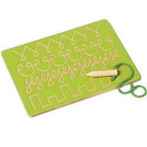 Grafomotorický labyrint, zelený