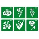 Šablóny Kvety, 6 ks