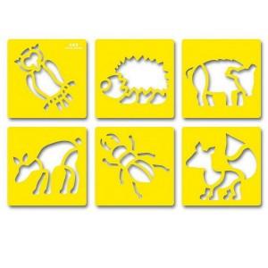 Šablóny Lesné zvieratá, 6 ks