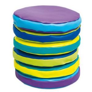 Penové sedáky farebné, 6 ks