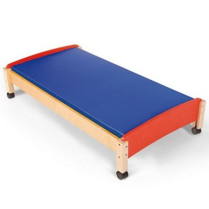 Drevená posteľ s matracom, 128 cm