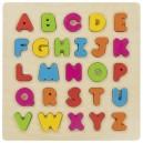 Drevené vkladacie puzzle Abeceda, 26 dielikov