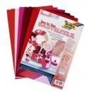 Folia Filcové červené hárky A4 , 10 ks