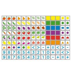 Magnetické kartičky Potrieď a porátaj, 125 ks