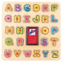 Woody Pečiatkové puzzle abeceda