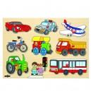 Woody Puzzle na doske Dopravné prostriedky